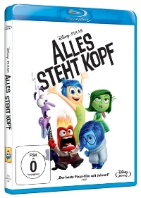 Blu-ray Cover - Alles steht Kopf, Rechte bei Disney/Pixar