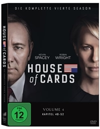 DVD Cover - House of Cards - Die komplette vierte Season, Rechte bei Sony Pictures