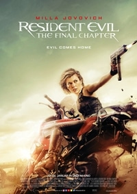 Filmplakat - Resident Evil: The Final Chapter, Rechte bei Constantin Film