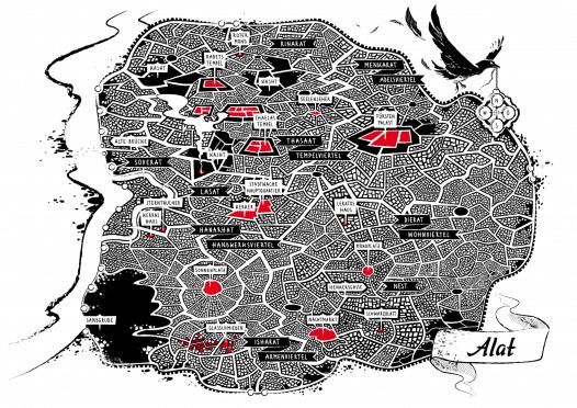 Stadtplan von Alat, Künstlerin: Anna Frohmann, Bild für Werbezwecke freigegeben, https://annafrohmann.com/
