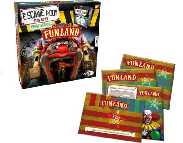 Escape Room - Welcome to Funland - Spielmaterial