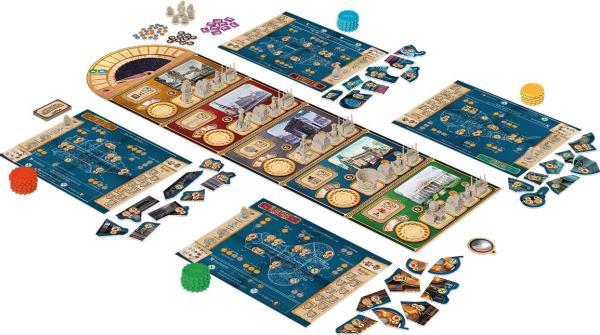 VIctorian Masterminds - Spielaufbau, Rechte bei Asmodee